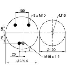 Пневморессора  VIBRACOUSTIC V1DF18-3 фото 2