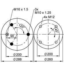 Пневморессора VIBRACOUSTIC V 1 D 28 B-7 фото 2