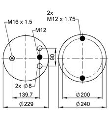 Пневморессора VIBRACOUSTIC  V1D23G-1 фото 5