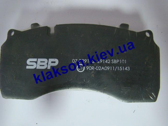 Колодки тормозные  RVI Midlum, DAF 55 SBP 07-P29142, WVA 29142 фото 2